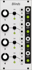 Mutable Instruments Blinds (Grayscale panel)