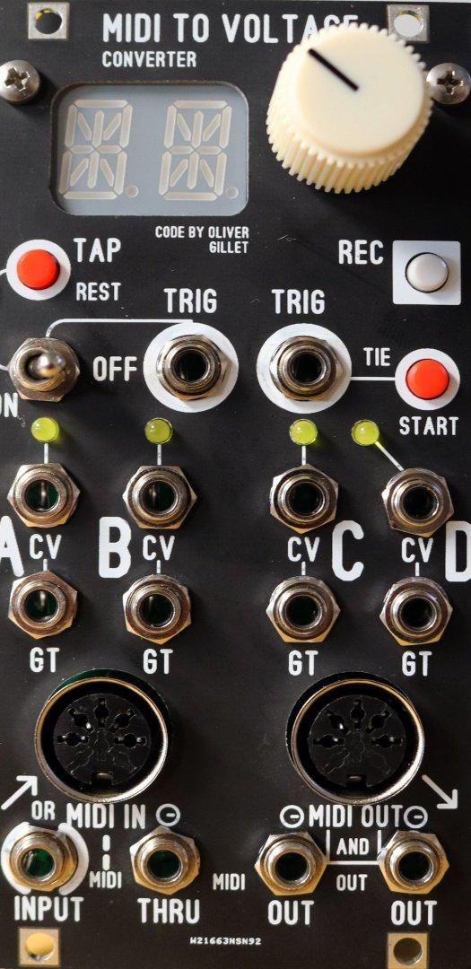 Blue Lantern Modules Enhanced Yarns Midi to CV converter DIY