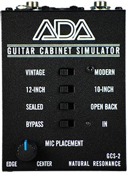 Ada Gcs 2 Guitar Cabinet Simulator Pedal On Modulargrid