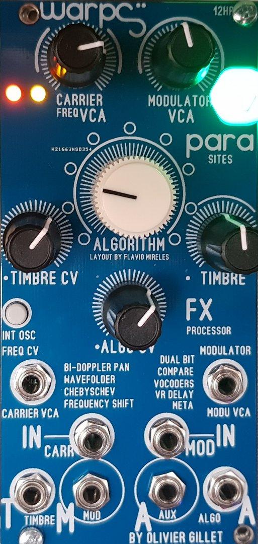 Blue Lantern Modules DIY 12hp Warps - Eurorack Module on