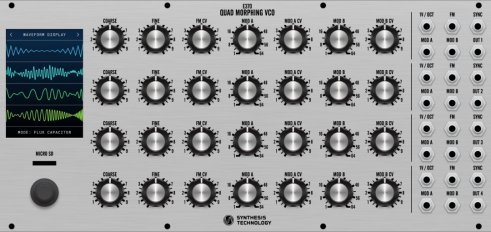 Eurorack Module E370 (silver panel) from Synthesis Technology