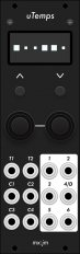 Eurorack Module uTemps (black panel) from Grayscale