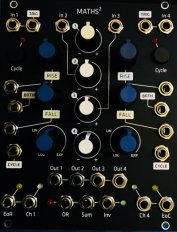 Maths Black Grayscale with Blue Knobs (Panel)