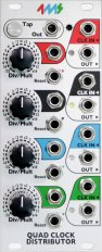 Eurorack Module QCD: Quad Clock Distributor from 4ms Company