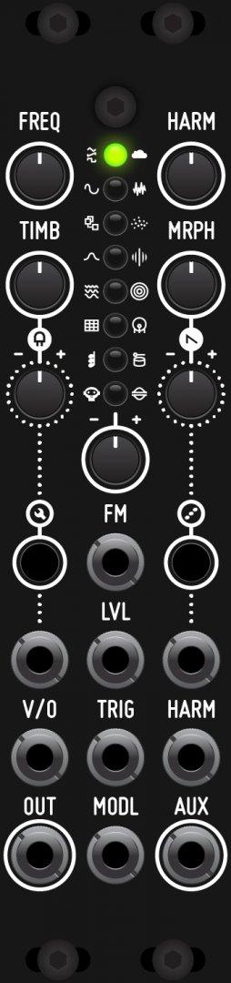 Weiß Neu Antumbra Knit Mutable Instruments Plaits Eurorack Synth Modul