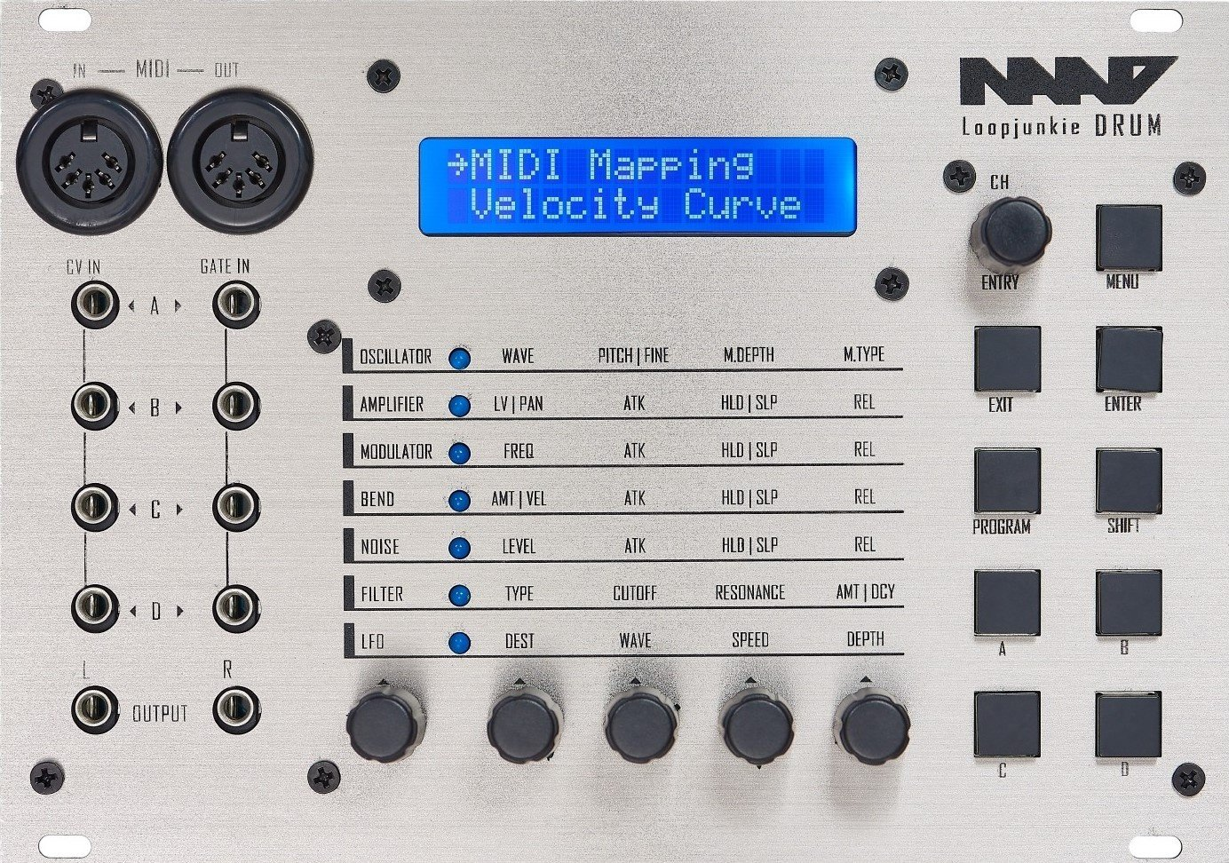 Other/unknown NAAD LD4 digital drum synthesizer - Eurorack