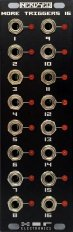 Eurorack Module Nerdseq - 'More Triggers 16' Expander Black from XOR Electronics