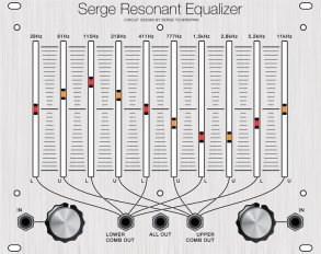 Eurorack Module Serge Resonant Equalizer (Clarke Panel) from CGS