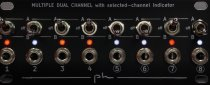 Multiple dual channels with leds 1U (intellijel or pulplogic format)