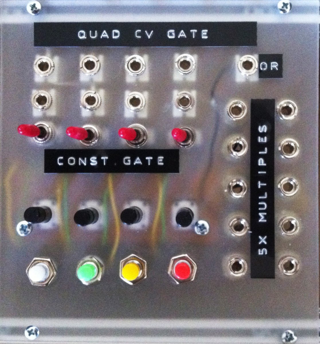 other unknown quad cv gate source diy eurorack module on modulargrid