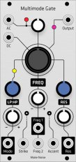 Make Noise MMG Multimode Gate (Grayscale panel)