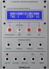 4 Tracks Trigger Sequencer (aluminum panel)