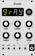 Mutable Instruments Braids (Grayscale panel)