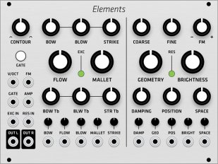 Mutable Instruments Elements (Grayscale panel)