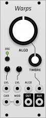 Mutable Instruments Warps (Grayscale panel)