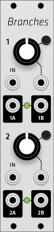 Mutable Instruments Branches (Grayscale panel)