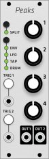 Mutable Instruments Peaks (Grayscale panel)