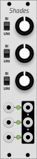 Mutable Instruments Shades (Grayscale panel)
