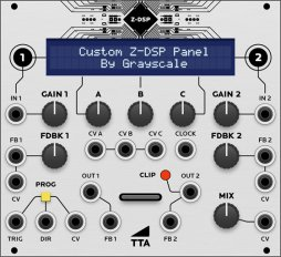 Tiptop Audio Z-DSP (Grayscale panel)