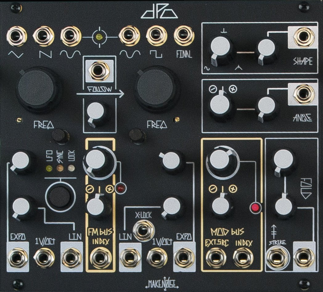 make noise dpo black panel eurorack module on modulargrid. Black Bedroom Furniture Sets. Home Design Ideas