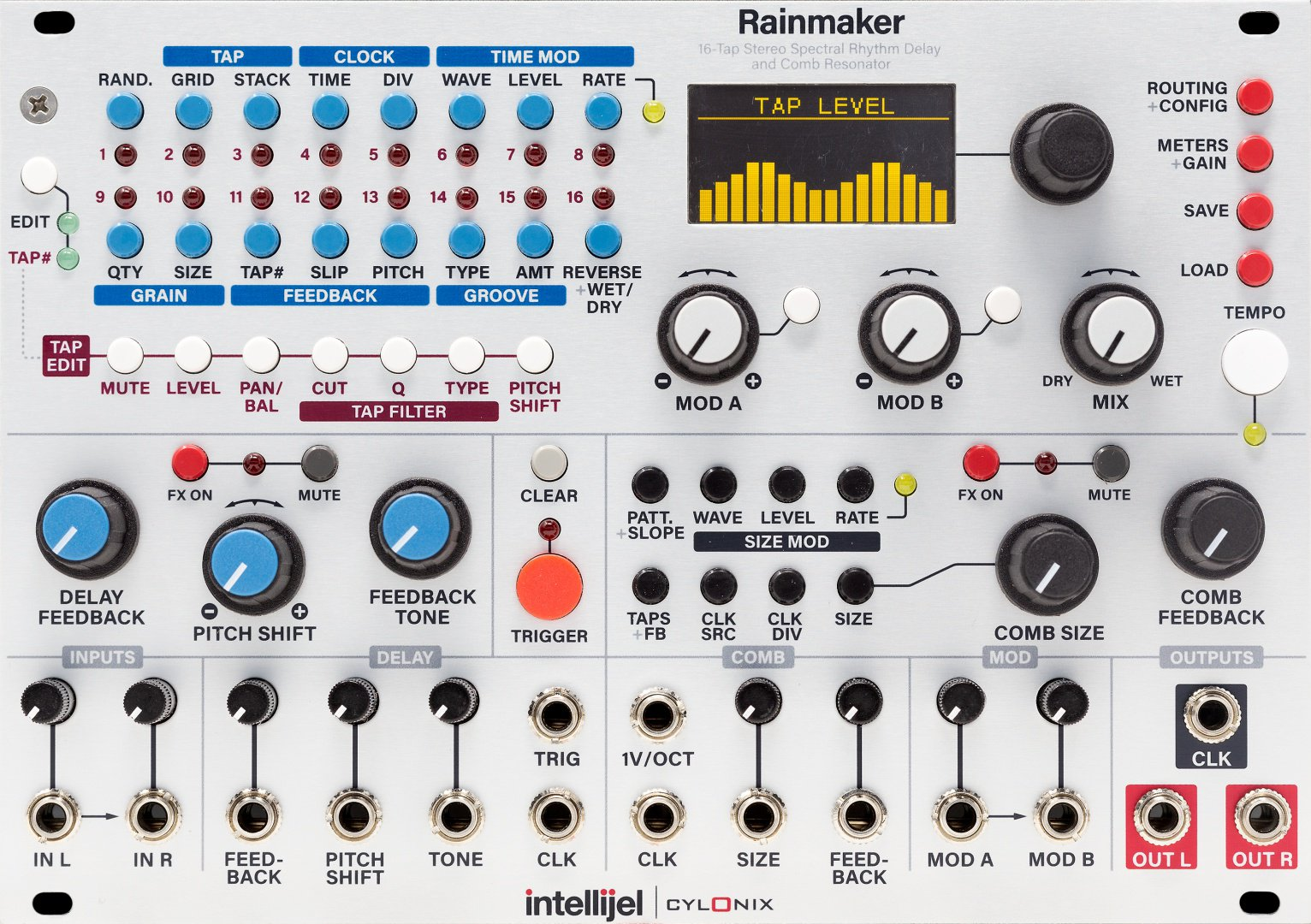 Intellijel Rainmaker Eurorack Module On Modulargrid Audio Level Balance And Tone Control Circuits Electronics Tutorial From