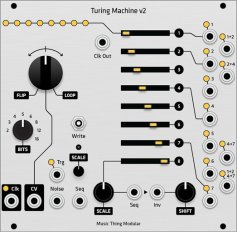 Eurorack Module Turing Machine v2 hybrid panel from Grayscale